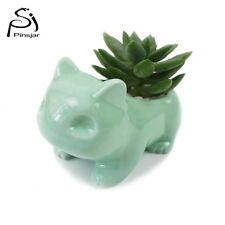Pokemon Ceramic Flowerpot Bulbasaur Planter Cute Green Succulent Plants Hgrsport