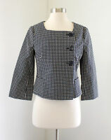 NWT $99 Ann Taylor Blue Off White Polka Dot Blazer Jacket Size 0