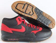 Nike Air Max 1 Mid ID Premium Black-Red-GUM SZ 15  [744462-992]
