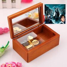 Rectangle jewelry Wood Wind Up Music Box : Prologue Hedwig's Theme Soundtrack