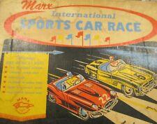 Vintage Marx International Sports Car Race, Lighted Slot Cars,  # 22730