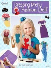 Plastic Canvas Pattern Book DRESSING PRETTY FASHION DOLLS  Paper Doll Type in PC