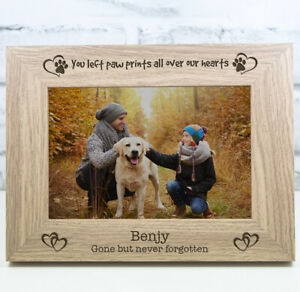 Personalised Dog Photo Frame Gift Keepsake Memorial Engraved