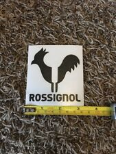 "Rossignol Rooster Logo Black Sticker Decal Approx 3.5"" Ski Skiing Outdoor"