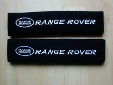A PAIR OF NEW EMBROIDERED RANGE ROVER SEAT BELT COVERS