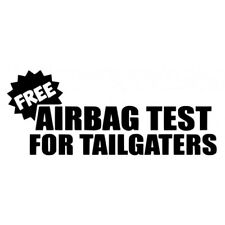 BACK OFF BUMPER HUMPER Tailgate Funny Auto Car Window Black Vinyl Decal B2G1Fre