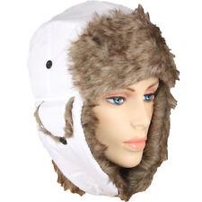 Winter Warm Cap PLOT HAT WHITE MEN WOMEN Trapper Aviator Fur Ski Flap CHRISTMAS