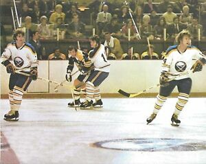 THE FRENCH CONNECTION 8X10 PHOTO HOCKEY BUFFALO SABRES GAME ACTION PICTURE NHL
