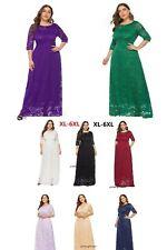 Plus Size Women's Maxi Cocktail Party Evening Formal Lace Long Dresses XL-6XL