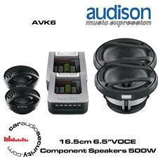 "Audison AVK6 - 16.5cm 6.5"" Altavoces De Componentes Voce total de 500 vatios de potencia"