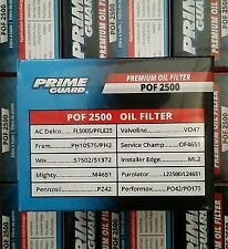 12 PACK Prime Guard POF2500 OIL FILTERS PH10575 FL500S L22500 57502