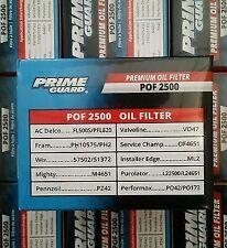12 PACK Prime Guard POF2500 OIL FILTERS PH10575 FL500S L22500 57502