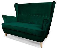Sofa Zweisitzer LOKI Grau Blau Grün Skandinavisch Kleine Sofa Wohnzimmer