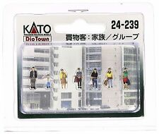 KATO 24-239 N Scale Gauge Diorama 7 personnages Shopping people Train Decoration