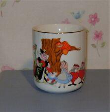 Disney Parks ALICE IN WONDERLAND Porcelain Gold Rim Cup Mug