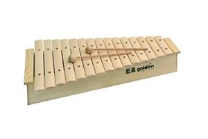 Goldon 15 Sound Plates Xylophone with High Sound Box and 2 Wooden Beater, 11220