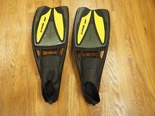 ScubaPro Jet-Sport (Full Foot) Fins / Black / Yellow / M 9-10