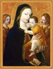 The Virgin and Child with two Angels Ambrogio Bergognone Jesus Maria B A2 00444