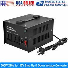 500 Watt 220V to 110V Step Up/Down Voltage Transformer Converter New