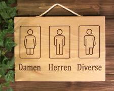 Damen Herren Diverse - Schild aktuelles Urteil drittes Geschlecht, Klo, Toilette
