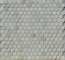 Marmor Mosaik Rundmosaik beige 30x30x0,8cm; 1,8cm rund Knopf Button Fliese