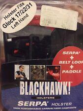 Blackhawk! Serpa Holster LEFT HAND for GLock 17/22/31