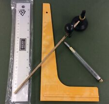 Stained glass tools / Circle cutter, lead cutter, square.anti slip ruler a