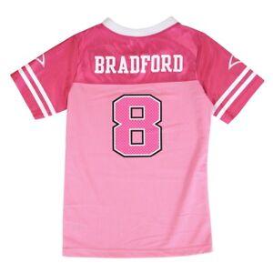 Sam Bradford NFL Philadelphia Eagles Fashion Pink Jersey Little Girls (4-6)