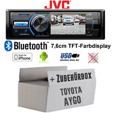JVC Autoradio für Toyota Aygo TFT-Display MP3 USB Android iPhone Einbauzubehör