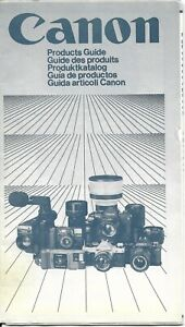 CANON PHOTOGRAPHY PRODUCTS GUIDE BROCHURE MANUAL Used Multi-Language