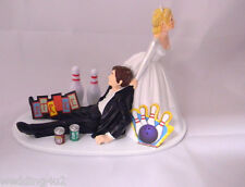 Wedding Reception Party Soda Cans Bowling Alley League Strike Bowl Cake Topper