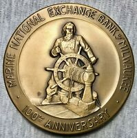 "Marine Nat'l. Exchange Bank - Centennial - 3 1/4"" Bronze Medal -Whitehead & Hoag"