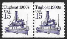 U.S. Scott #2260b  15c Tugboat UNTAGGED ERROR PAIR EFO  MHN OG F-VF