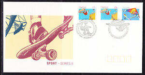 Australia 1990 Sports FDC APM22480 3 stamps First Day Cover
