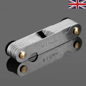Foldable Radius Gauge R 1-7mm Metal Gauge Fillet Blades Measuring Measurement HQ