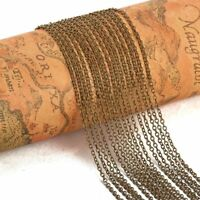 5 Yard Brass Cross Cable Chains 2x1.5x0.5mm Antique Bronze Jewelry Making Chain