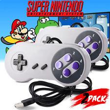 2 Pack SNES Retro USB Controller Gamepad Joystick for PC Mac Sega Genesis Higan
