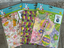 """6 Total Cello Easter Basket Bags 22"""" X 25"""" With Twist Ties 3 Packages"""