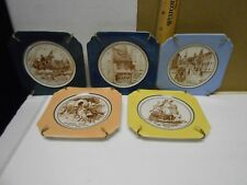 SYRACUSE CHINA small plate set of 5 USA historic events 1776, 1778, 1783,1620...