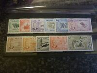 FALKLAND ISLANDS POSTAGE & REVENUE STAMPS SG172-182 1/2D-2/6D 1952 LMM & 2/6 UMM