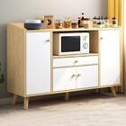 Wooden+Sideboard+Storage+Cabinet+Cupboards+Shelf+Multi-Function+Kitchen+Home+New
