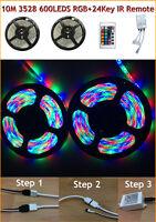 3528 5050 5630 5M White 300 SMD 12V LED Flexible Strip Light Waterproof Adapter