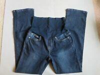 Liz Lange Women's Size 8 Maternity Stretch Boot Cut Jeans Semi Belly