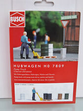 Busch 7809 - H0 - A-set : Transpallet - NUOVO in scatola originale