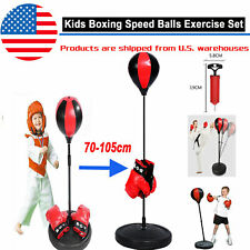 Adjustable Kids Boxing Punching Exercise Set Gifts with Gloves Pump