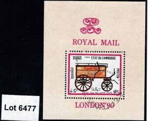 Lot 6477 - Cambodia London 90 Exhibition Used Miniature Sheet