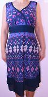 Pepperberry Aline Blue Navy Curvy Dress Size 16Bravissimo Holiday Summer AZ
