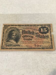 15 CENT FOURTH ISSUE FR.1268 POSTAL FRACTIONAL CURRENCY