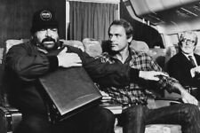 Bud Spencer Terence Hill On Airplane 24X36 Premium Quality Poster