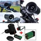 Black Ultra-loud Speaker Electronic Bicycle 6Sounds Alarm Bell Bike Siren Horn